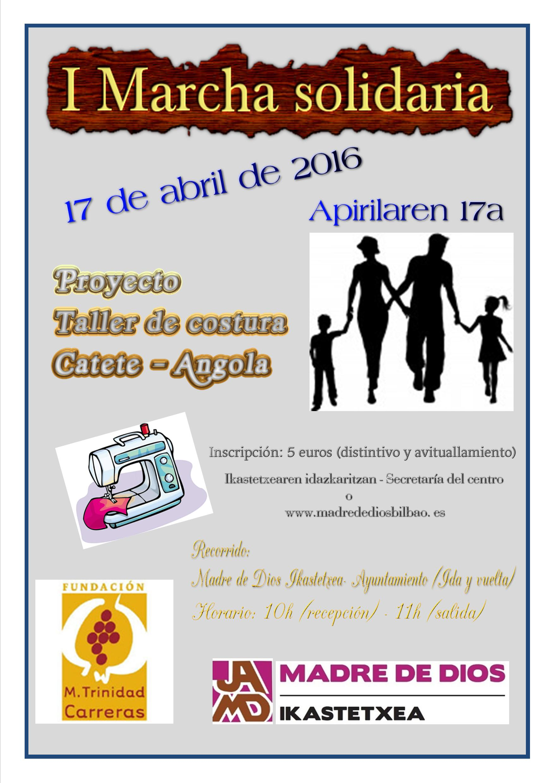 I Marcha Solidaria MTrinidad Carreras - Madre de Dios Ikastetxea