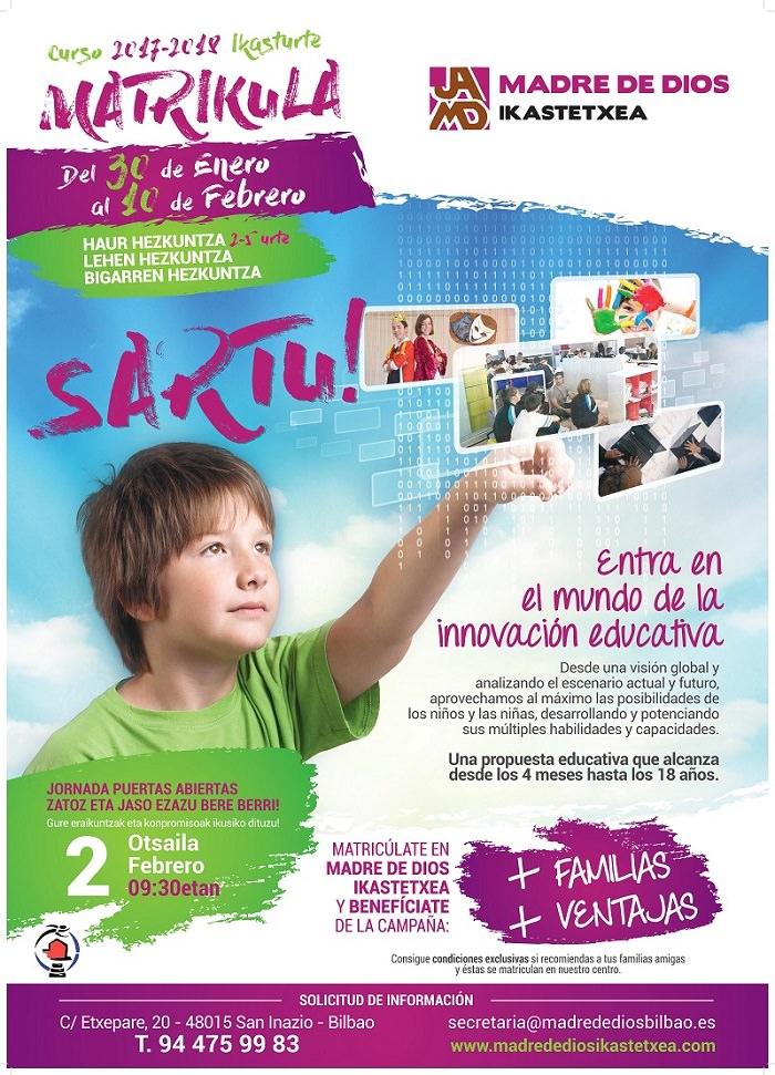 Matrícula educación infantil, primaria y secundaria