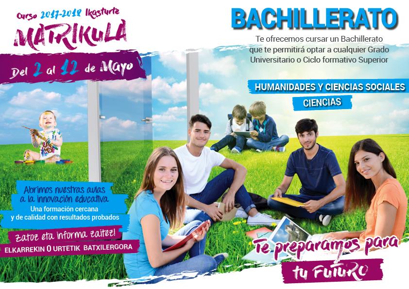 Matrícula Bachillerato bachillerato 2017-18