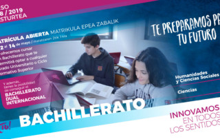 Matricula bachillerato 2018-2019