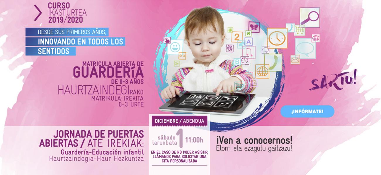 Campaña de matriculación 2019-2020 en Educación Infantil - Haur Hezkuntza