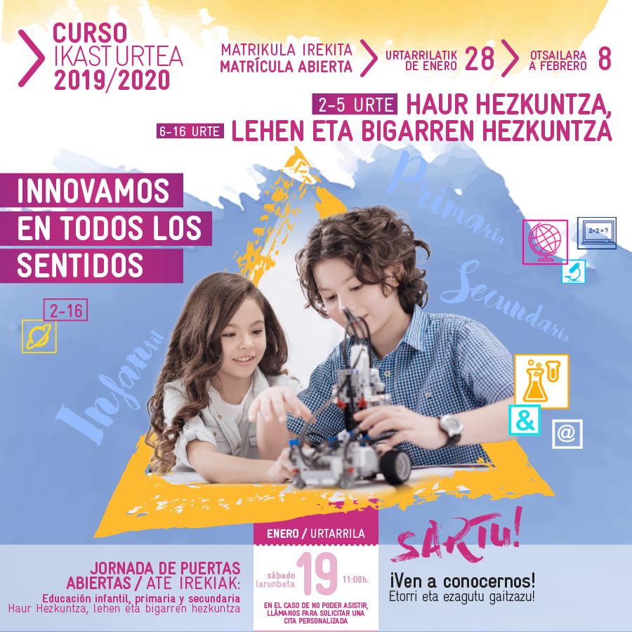 Matrícula curso 2019-2020