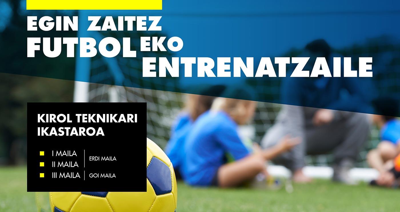 Futboleko entrenatzailea izateko ikastaroa 2019-2020