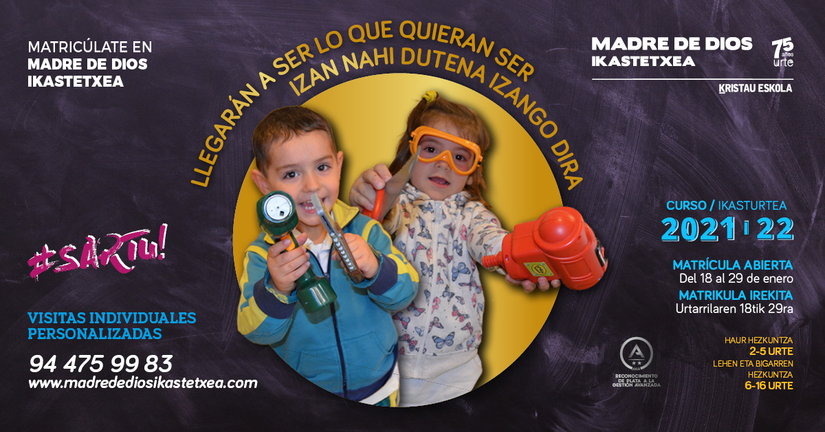 matriculacion 2021-22 infantil primaria eso