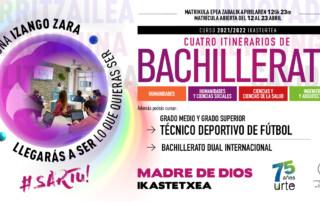 bachillerato 2021-22 madre de dios ikastetxea